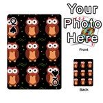 Halloween brown owls  Playing Cards 54 Designs  Front - SpadeQ