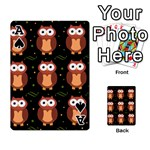 Halloween brown owls  Playing Cards 54 Designs  Front - SpadeA
