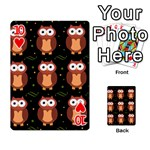 Halloween brown owls  Playing Cards 54 Designs  Front - Heart10