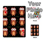 Halloween brown owls  Playing Cards 54 Designs  Front - Diamond8
