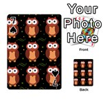 Halloween brown owls  Playing Cards 54 Designs  Front - Spade7
