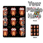 Halloween brown owls  Playing Cards 54 Designs  Front - Joker1