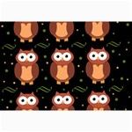 Halloween brown owls  Collage Prints 18 x12 Print - 1