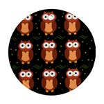 Halloween brown owls  Round Ornament (Two Sides)  Back