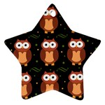 Halloween brown owls  Star Ornament (Two Sides)  Front
