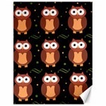 Halloween brown owls  Canvas 12  x 16   16 x12 Canvas - 1