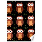 Halloween brown owls  Canvas 12  x 18   18 x12 Canvas - 1
