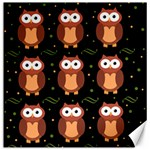 Halloween brown owls  Canvas 16  x 16   16 x16 Canvas - 1