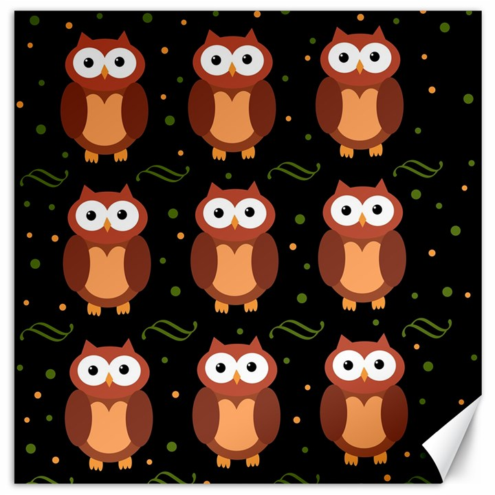 Halloween brown owls  Canvas 16  x 16