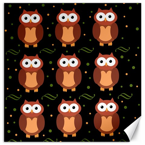 Halloween brown owls  Canvas 20  x 20