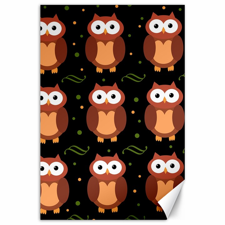 Halloween brown owls  Canvas 24  x 36