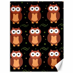 Halloween brown owls  Canvas 36  x 48