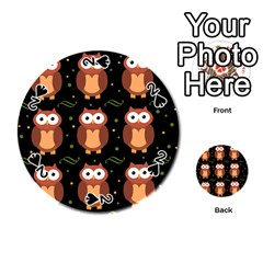 Halloween Brown Owls  Playing Cards 54 (round)