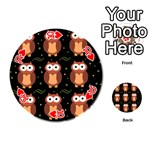 Halloween brown owls  Playing Cards 54 (Round)  Front - Heart10
