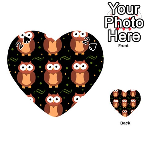 Halloween brown owls  Playing Cards 54 (Heart)