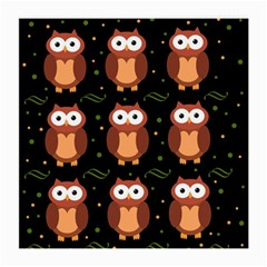 Halloween brown owls  Medium Glasses Cloth