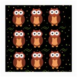 Halloween brown owls  Medium Glasses Cloth Front