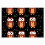 Halloween brown owls  Large Glasses Cloth (2-Side) Back