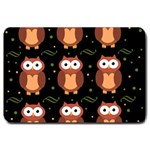 Halloween brown owls  Large Doormat  30 x20 Door Mat - 1