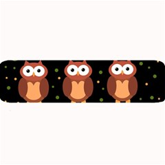 Halloween Brown Owls  Large Bar Mats
