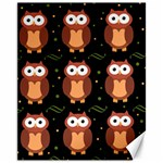 Halloween brown owls  Canvas 11  x 14   14 x11 Canvas - 1