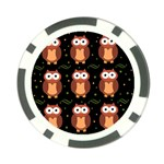 Halloween brown owls  Poker Chip Card Guards Back