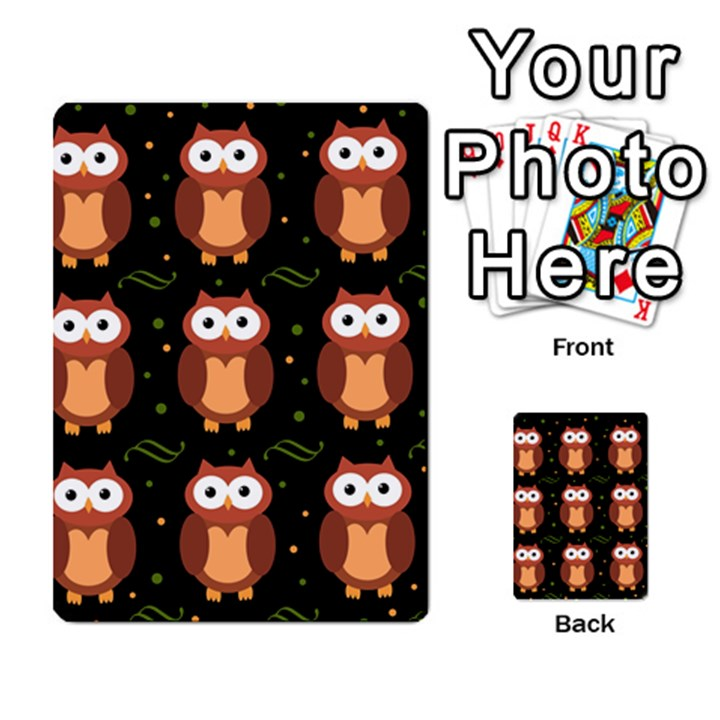 Halloween brown owls  Multi-purpose Cards (Rectangle)