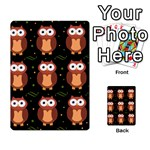 Halloween brown owls  Multi-purpose Cards (Rectangle)  Back 50