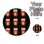 Halloween brown owls  Multi-purpose Cards (Round)  Back 1