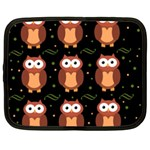 Halloween brown owls  Netbook Case (Large) Front