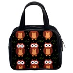 Halloween brown owls  Classic Handbags (2 Sides) Front