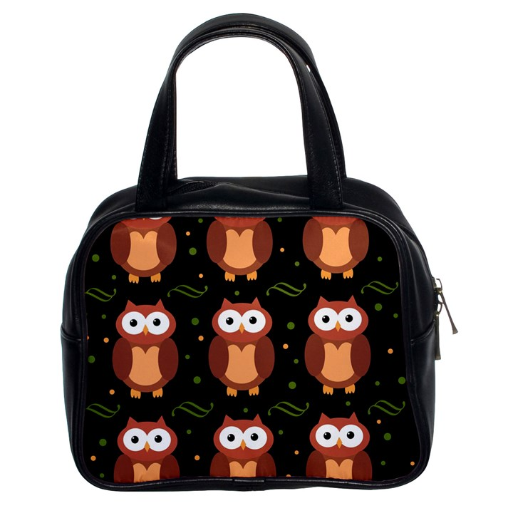 Halloween brown owls  Classic Handbags (2 Sides)