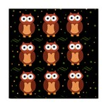 Halloween brown owls  Face Towel Front