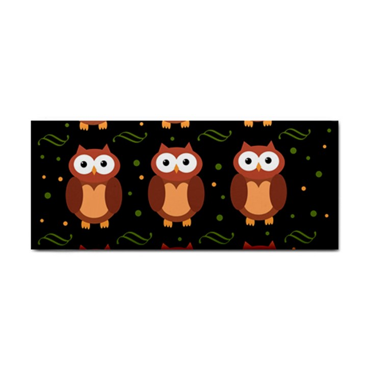Halloween brown owls  Hand Towel