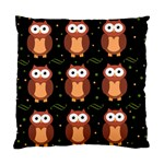 Halloween brown owls  Standard Cushion Case (Two Sides) Back