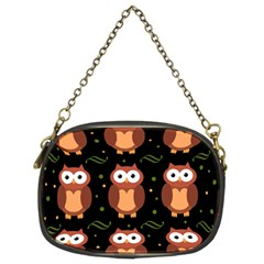 Halloween brown owls  Chain Purses (Two Sides)