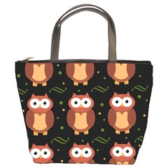 Halloween brown owls  Bucket Bags