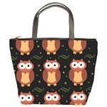 Halloween brown owls  Bucket Bags Front