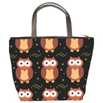 Halloween brown owls  Bucket Bags Back