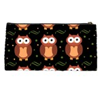 Halloween brown owls  Pencil Cases Back