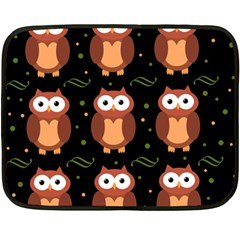 Halloween brown owls  Double Sided Fleece Blanket (Mini)
