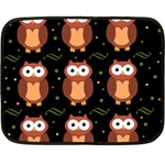 Halloween brown owls  Double Sided Fleece Blanket (Mini)  35 x27 Blanket Back