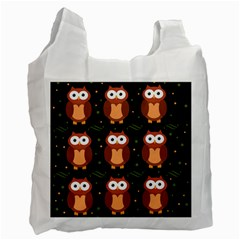 Halloween brown owls  Recycle Bag (Two Side)