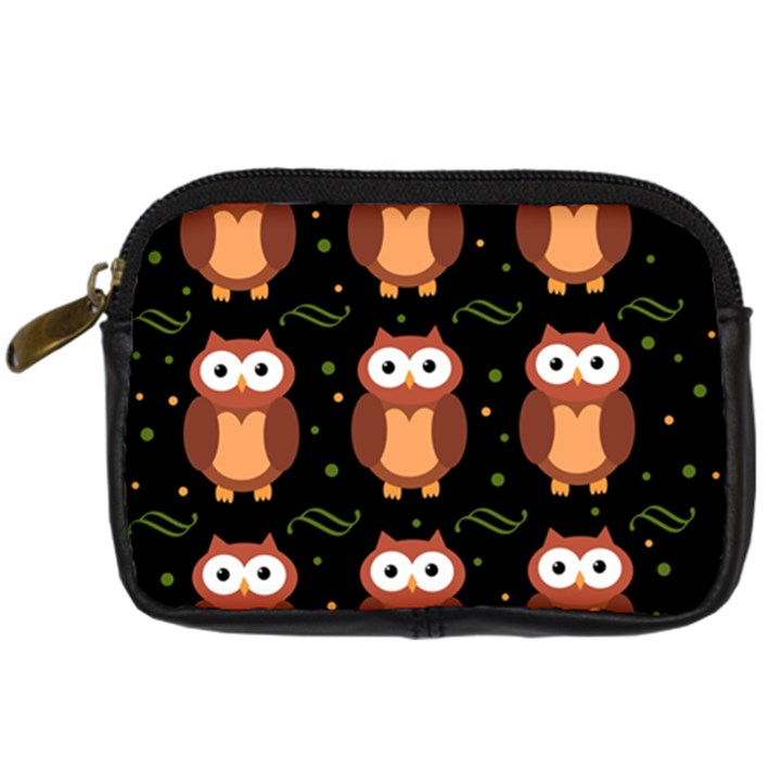 Halloween brown owls  Digital Camera Cases