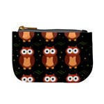 Halloween brown owls  Mini Coin Purses Front