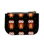 Halloween brown owls  Mini Coin Purses Back