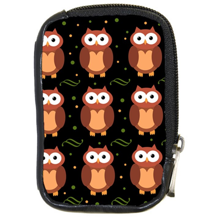 Halloween brown owls  Compact Camera Cases