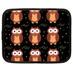 Halloween brown owls  Netbook Case (XXL)
