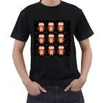 Halloween brown owls  Men s T-Shirt (Black) Front