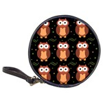 Halloween brown owls  Classic 20-CD Wallets Front